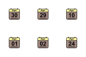 April Calendar 2017 2 - Line Filled Icon Pack
