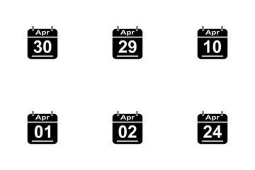 April Calendar 2017 3 - Glyph Icon Pack