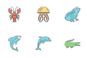 Aquatic Animal Icon Pack