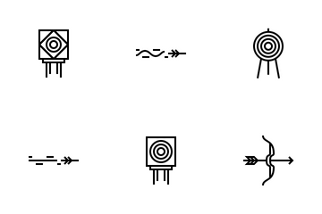 Archery Items Icon Pack
