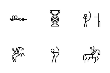 Archery Sport Icon Pack