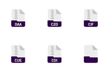 Archive And Compressed File Format Icon Pack