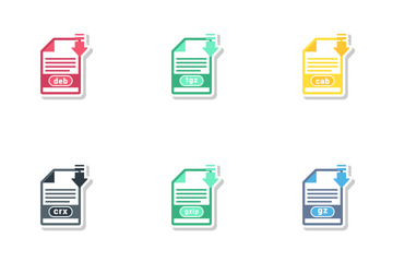 Archive File Formats Icon Pack