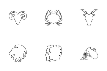 Aries Zodiac Sign Icon Pack
