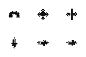Arrow Glyph P4s3 Icon Pack