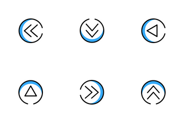 Arrow In Circle Icon Pack