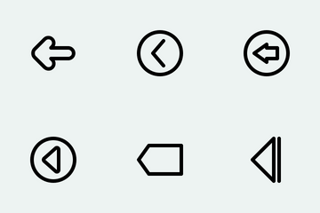 Arrow Line Icon Pack