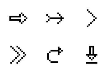 Arrow Part 1 - [Line Pixel Art] Icon Pack