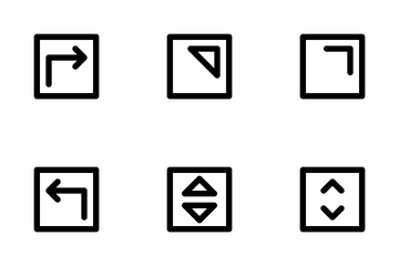 Arrow Square Icon Pack