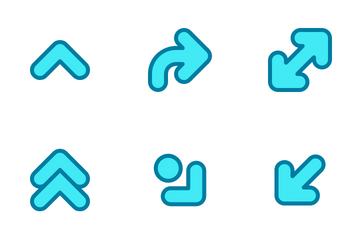 Arrows Blue Icon Pack