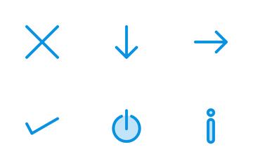 Arrows Line Blue Icon Pack