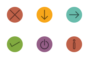 Arrows Line Circle Icon Pack