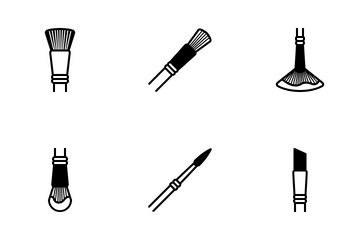 Art & Design - Brushes (glyph) Icon Pack