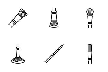 Art & Design - Brushes (outline) Icon Pack