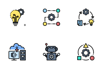 Artificial Intelligence And Machine Learning Icon Pack