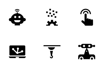Artificial Intelligence And Robotics Icon Pack