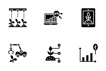 Artificial Intelligence In Agriculture Icon Pack