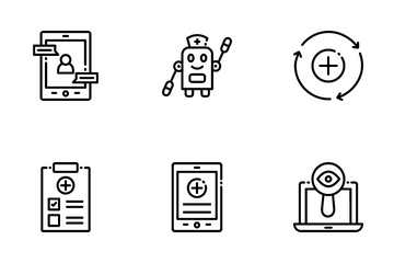 Artificial Intelligence In Healthcare Icon Pack
