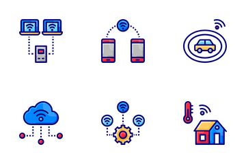 Artificial Intelligence In IOT Icon Pack