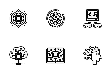 Artificial Intelligence Outline Icon Pack