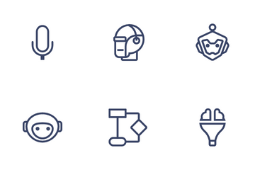 Artificial Intelligent And Machine Learning Icon Pack