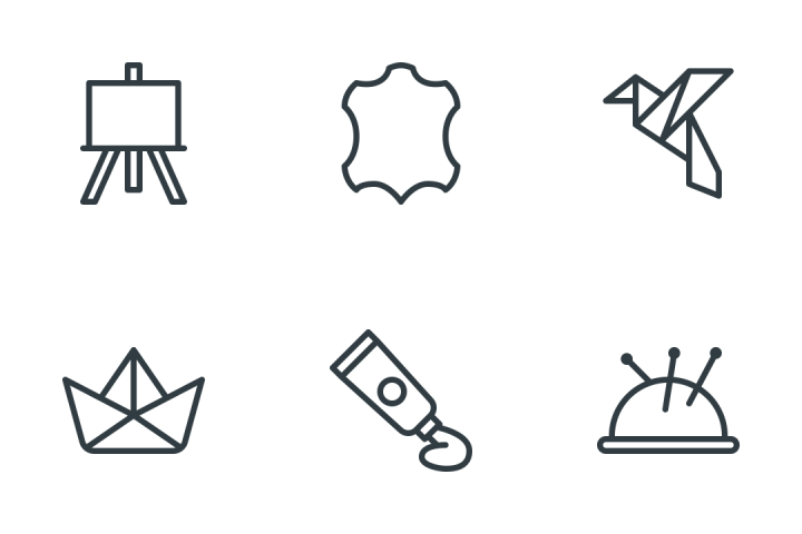 Arts, Crafts, Sewing Icon Pack