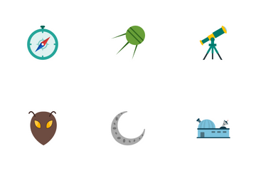 Astronomy Flat Icon Pack