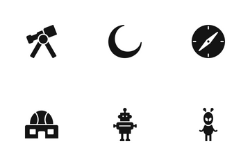 Astronomy Glyph Icon Pack