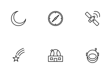 Astronomy Line Icon Pack