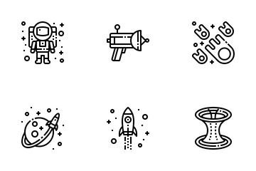 Astronomy Outline Icon Pack