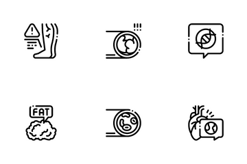 Atherosclerosis Vessel Icon Pack