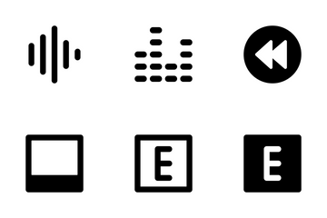 Audio And Video Icon Pack