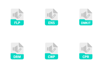 Audio Editing And Music Production File Format Icon Pack