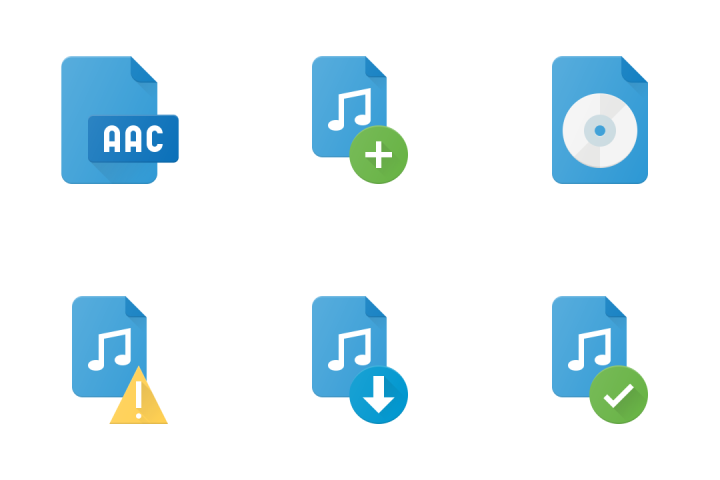 Audio Files Icon Pack