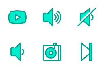 Audio Video Duo Tone Icon Pack