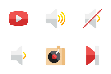 Audio Video Flat Icon Pack