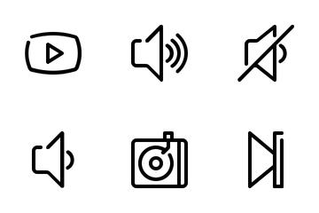 Audio Video Line Icon Pack