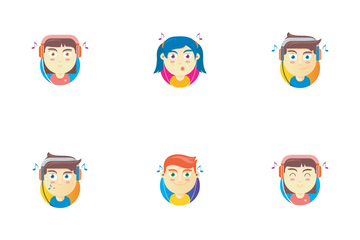 Audiophile Boy And Girl Icon Pack