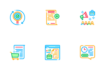 Audit Finance Report Icon Pack