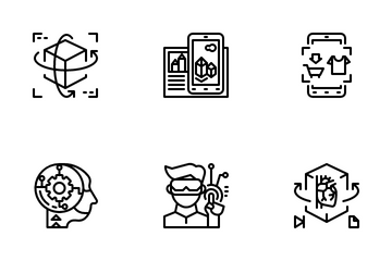 Augmented Reality And Virtual Reality Icon Pack