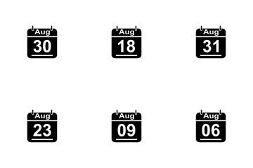 August Calendar 2017 3 - Glyph Icon Pack