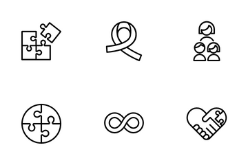 Autism Awareness Icon Pack