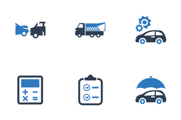 Auto Insurance - Blue Series Icon Pack