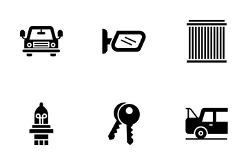 Auto Maintenance Car Service Icon Pack