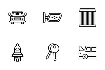 Auto Maintenance Car Service Icon Pack