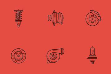 Auto Parts Icon Pack