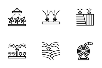 Automatic Lawn Watering Icon Pack