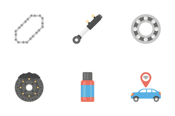 Automobile Parts And Repair Car Services Icon Pack