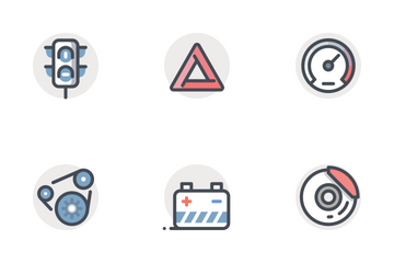 Automobile Services Icon Pack