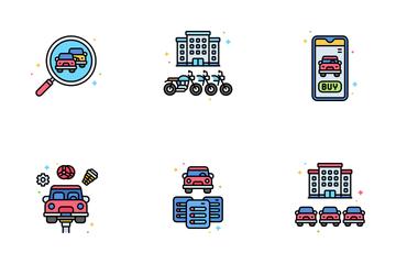 Automotive Ecommerce Icon Pack